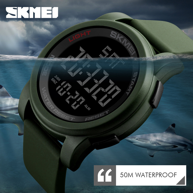 SKMEI Brand Mens Outdoor Sports Watches Male Relojes Military Electronic LED Digital Wristwatches Clocks Relogio Masculino 1257
