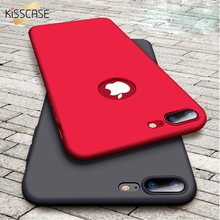 купить KISSCASE Hard Red Matte PC Case For iPhone 8 iPhone 7S 7 Plus Case 6 6s Plus Extreme Touch Thin Cases For iPhone 7S 7 6 6S Plus дешево