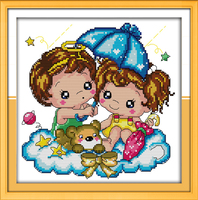 Feelings In The Rain!DIY Needlework 11CT 14CT DMC Counted Cross Stitch Kits Embroidery Cross cross stitch printed on canva