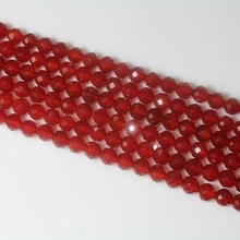 4 6 8 10 mm Natural Round Faceted Red Onyx Agate Stone Loose Gemstone Beads Accessory for Bracelet Necklace DIY Jewelry Making xinyao jewelry loose 40 4 6 810 12 14 f369 onyx agate beads