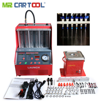 Mr Cartool Car Injector Cleaner Tester Fuel Injectors Cleaning Machine with English Panel 6 cylinder For Launch CNC602A CNC 602A