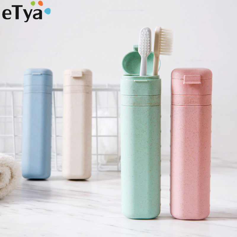 eTya Women Men Adjustable length Toothbrush Box Case Portable Travel Protect Toothbrush Holder Cover Bag Travel Accessories