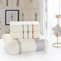 3pcs Lot Bath Towel Set 70cm 140cm 2 34cm 74cm 100 Cotton Towel Bath Towel
