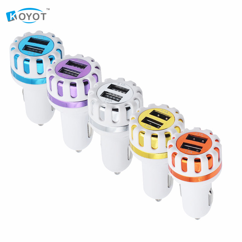 Car Chargers Universal 3.1a Usb Dual Ports Adapter Socket Sunflowers Led Light Car Charger For Ios Iphone 7 Um Lg Samsung Xiaomi Smart Phone Reliable Performance