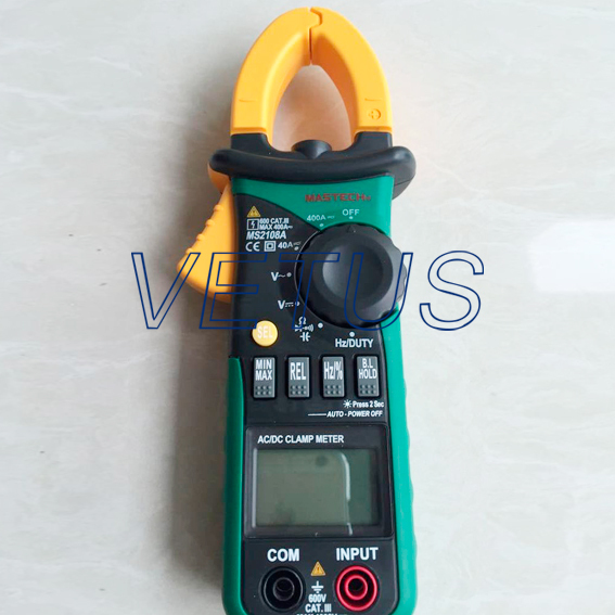 Digital Clamp Meter Multimeter AC DC Current Voltage Hz Frequency Capacitance Tester MS2108A 1 pcs mastech ms8269 digital auto ranging multimeter dmm test capacitance frequency worldwide store