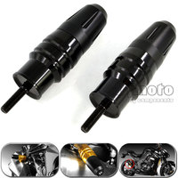 2 Pcs Motorcycle Crash Pads Exhaust Sliders Crash Protector For Kawasaki Z1000 Z1000SX 2013 2015 Black