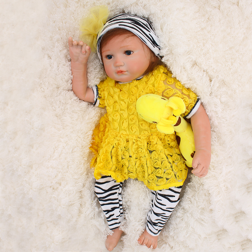 Cute girl reborn baby dolls 1846cm soft touch silicone reborn babies dolls real alive newborn bebes reborn bonecasCute girl reborn baby dolls 1846cm soft touch silicone reborn babies dolls real alive newborn bebes reborn bonecas