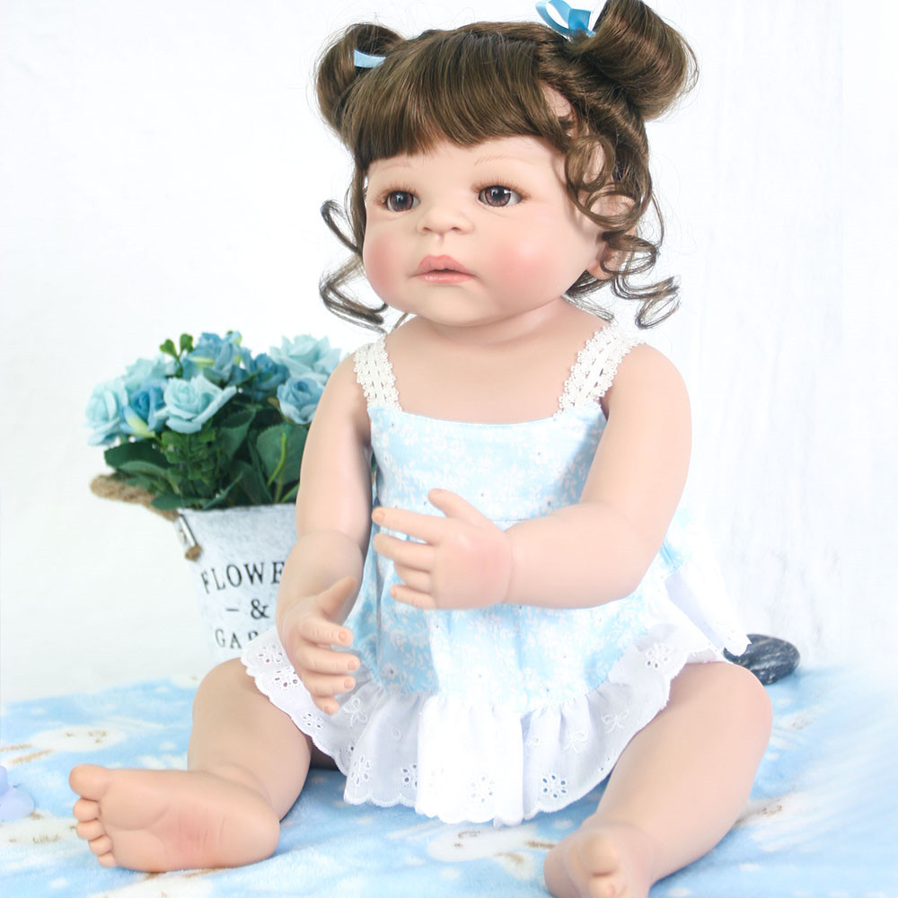 55cm Girls Princess Doll real full Silicone Doll Reborn Baby Dolls Lifelike hard Vinyl Girl Toddler Dolls Toys for Children gift55cm Girls Princess Doll real full Silicone Doll Reborn Baby Dolls Lifelike hard Vinyl Girl Toddler Dolls Toys for Children gift
