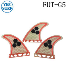 Surf Future Fins Red with logo Honeycomb Fiberglass Material surf G5 Size Good Quality tri set Free Shipping