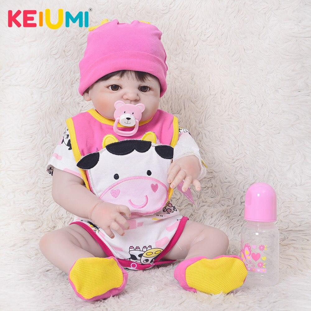 Moda 23 reborn reborn reborn bebês corpo de vinil completo silicone bonecas boneca verdadeira à vida recém-nascido para a menina brinquedos presentes de aniversário