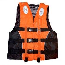 Плавание катание на лодках лыжный дрейфующий спасательный жилет со свистком M-XXXL размеры водные виды спорта ManWomen куртка полиэстер взрослый спасательный жилет куртка