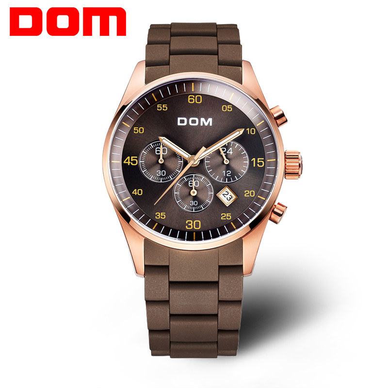 Watches men luxury brand Top fashion Business Watch DOM men quartz wristwatches water resist military clock relogio masculino xinge top brand luxury leather strap military watches male sport clock business 2017 quartz men fashion wrist watches xg1080