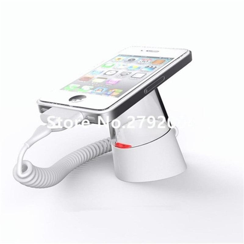 Høj kvalitet butiksikkerhed anti mistet alarm mobiltelefon display stativ med opladning