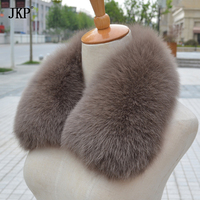 100% Real Fox Fur Scarf Women Fox Fur Collar Ring Scarf Genuine Natural Fox Fur Multicolor Scarves Collar