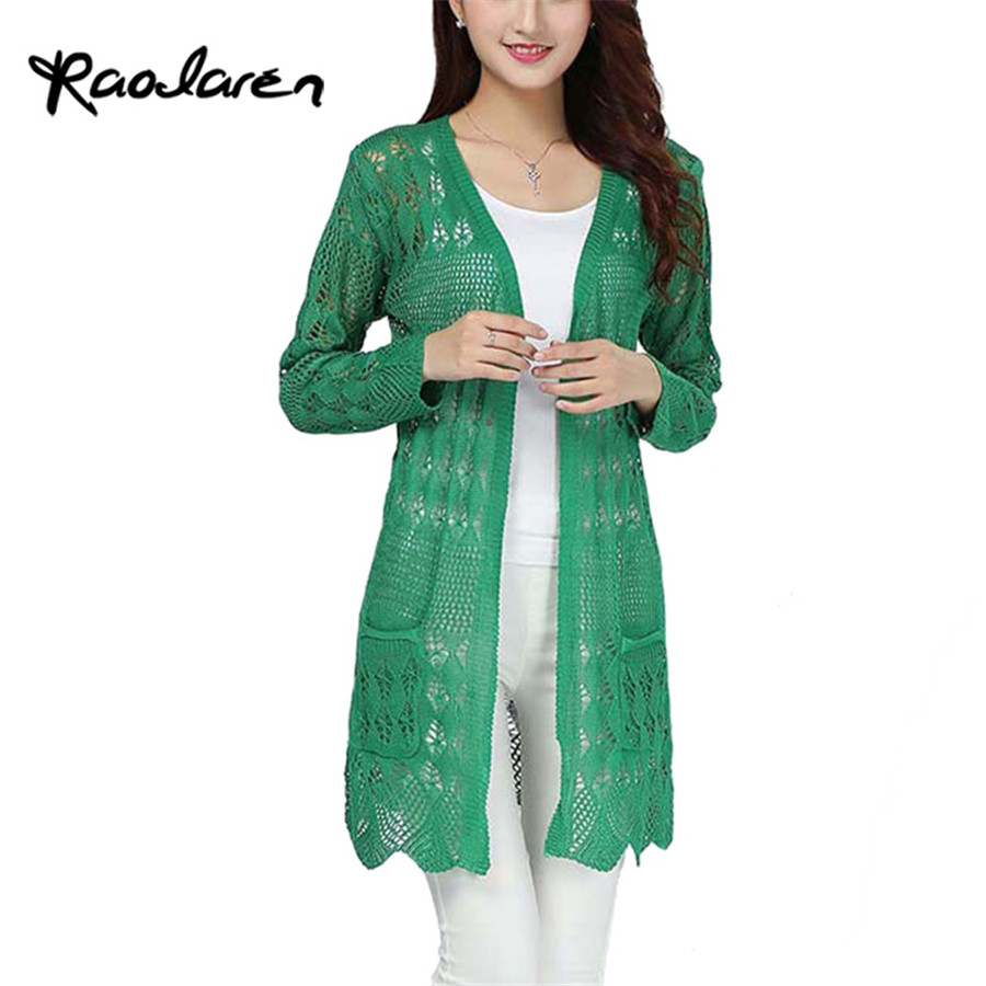b11be5a80a06 2017 Women Crochet Tops Summer Hollow Out Knitted Sweaters Cardigan Rebecas  Mujer Fashion Ladies Beach Cardigan Spring Autumn-in Cardigans from Women's  ...