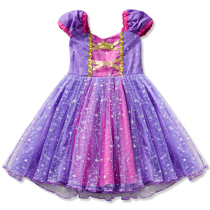 Princess Dress Girl Sofia Cosplay Costume Glitter Tutu Children Kids Anna Elsa Halloween Party Birthday Dress Up Fantasy Vestido protective pu leather plastic case w card slots foldable stand for samsung galaxy s5 brown