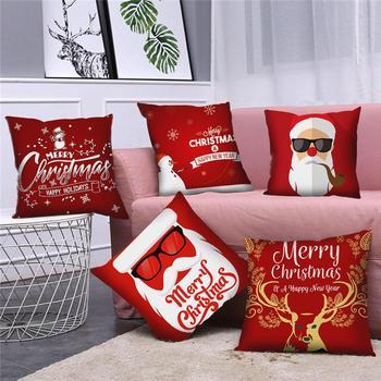 QIFU 45x45cm Elk Snowflake Santa Claus Christmas Pillowcase Christmas Decor for Home Christmas 2020 Navidad Xmas New Year 2021 elk snowflake geometric print christmas hoodie