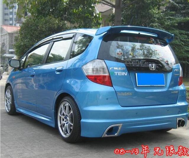 Vernice Abs Auto Ala Posteriore Tronco Spoiler Per Honda Fitjazz