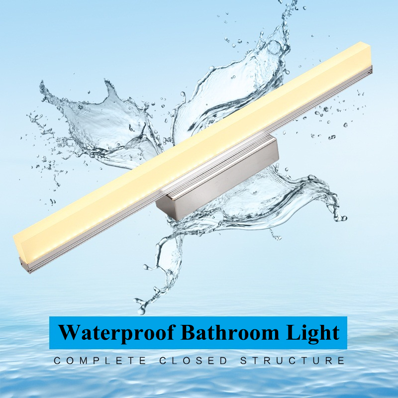 Waterproof Linear Acrylic Bathroom Light 04M15M Led Wall Mirror Front
