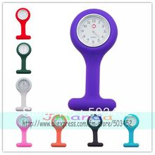 100pcs/lot Fashion Special Nurse Jelly Ladies Watch Cheap White Background Watch 12 Colors Candy Colors Medical Watches