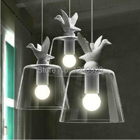 G80 Bulb Freely American Retro European Bedroom Restaurant Stairs White Duck Pendant Light PLL 603|pendant lights|white pendant light|american retro - title=