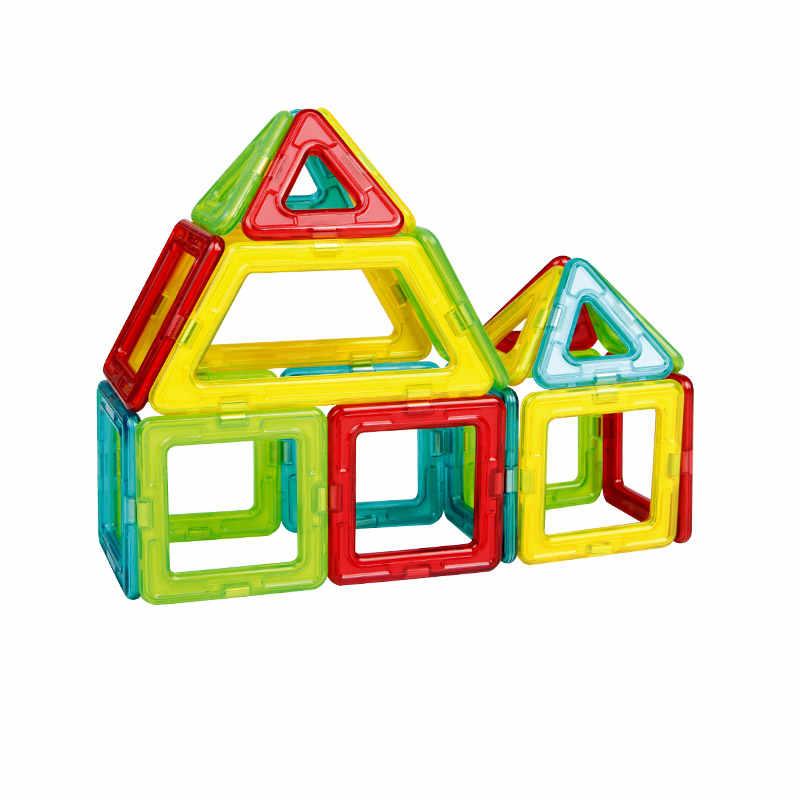 Mediunサイズ磁気ブロックアクセサリー部品トライアングル/スクエア/台形ビルディングレンガ玩具部品用キッズ