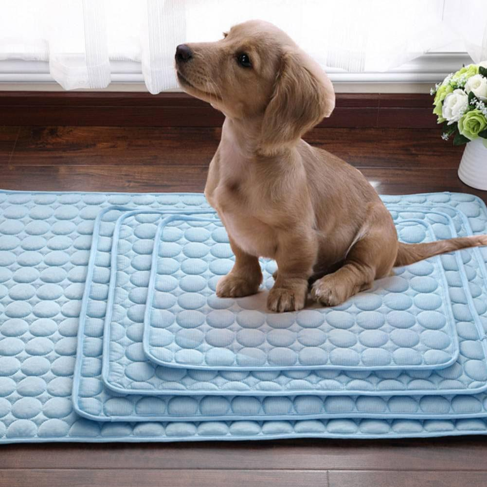 Adeeing Cold Felt Dog Mat Summer Dog Nest Pet Ice Silk Mat Cat Cool Pad, Soft and Comfortable for Your Pets.