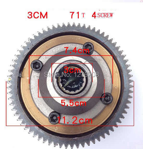 free shipping  71T  30mm  4hole  electric tricycle  differential gear motor  sprocket