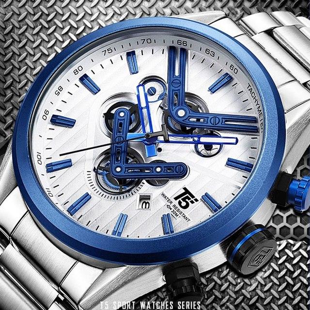 Quartz Chronograph and Waterproof  Men's Wristwatch