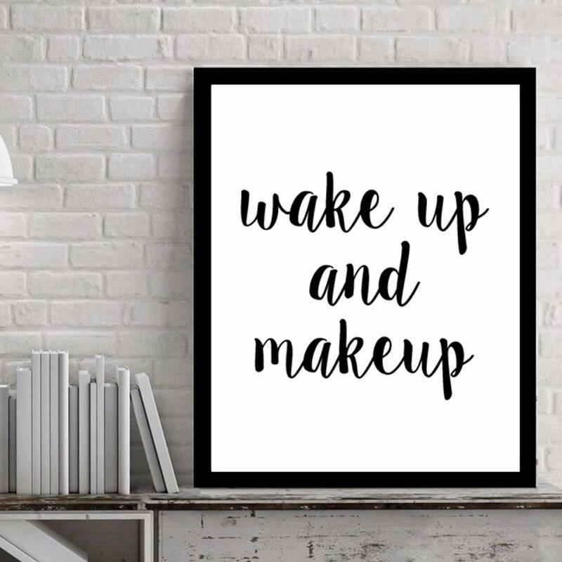 Us 7 99 Sveglia E Make Up Citazioni Di Arte Della Tela Pop Art By Numbers Immagine Poster Wall Art Dipinti Ad Olio Per Soggiorno Parete No Frame In