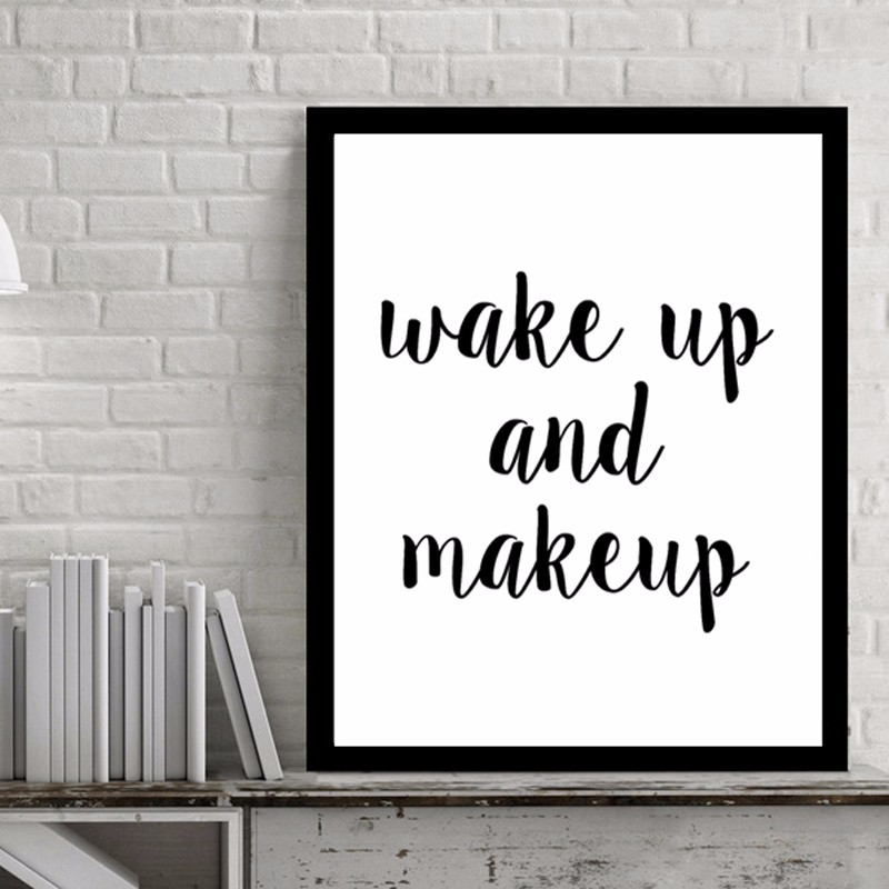 Wake Up and Make Quotes Canvas Art Pop Art by Numbers Picture Plakáty Wall Art Oil Paints for Living Room Wall