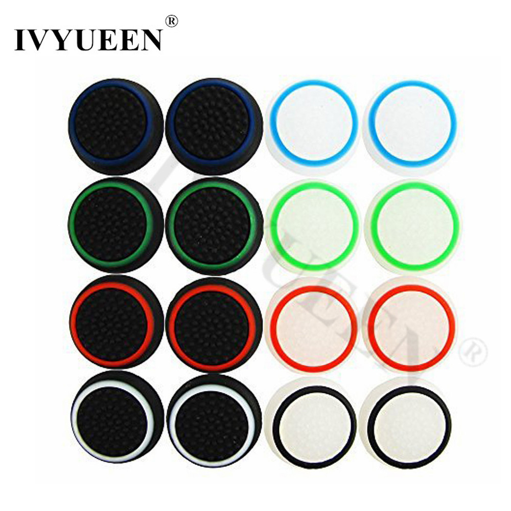 IVYUEEN 100 Pcs Analog Thumb Stick Grip Thumbsticks Cap For Dualshock 4 PS4 Pro Slim Controller Cover Case For Xbox One Control