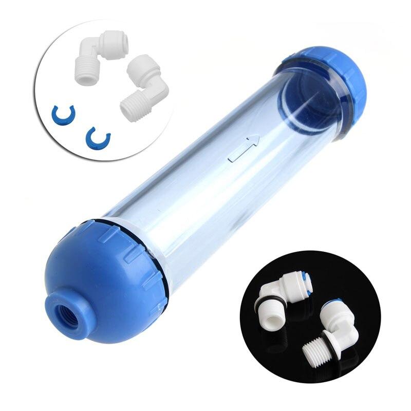 Filtre À eau Logement DIY Remplir T33 Shell Filtre Tube Transparent D'osmose Inverse