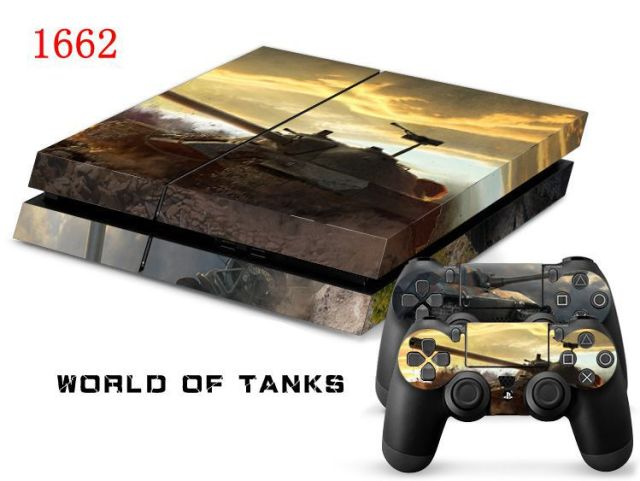 Oststicker world of tanks vinyl skin sticker for ps4 console for palystation4 controller