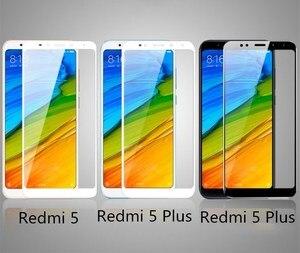 Image 5 - For Xiaomi redmi 5 plus glass redmi5 screen protector full cover white and black protect film For xiaomi redmi 5 tempered glass
