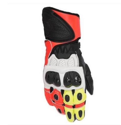 Racing GP Plus R Mens Leather Motorcycle Sport Bike Street Gloves Orange White чехлы на сиденье autoprofi r 1 sport plus black r 902p bk