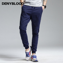 Denyblood Jeans High Quality Men's Stretch Linen Pants Men Casual Summer Breathing Thin Trousers for Mens Jogger Pants 172077