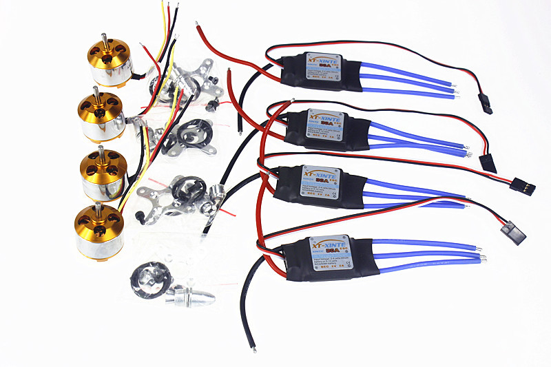 6Sets/lot A2212 1000KV Brushless Outrunner Motor + 30A Speed Controller ESC for RC Aircraft 4 axle Quadcopter UFO F02015-B  цены