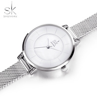 Shengke Top Brand Luxury Women S Watches Fashion Silver Watch Women Watches SK Bracelet Ladies Watch