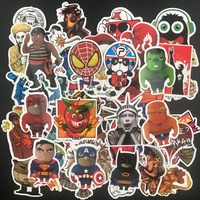 50bags Lot DHL Free 50pcs Bag 2500pcs In Total PVC Stickers For Travel Suitcase Wall Pencil
