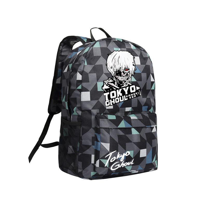 Anime Travel Bag Tokyo Ghoul Mochila Teenage Boy Girls Schoolbag Kaneki Ken Book Bags Boy and Girls School Backpacks Children 2017 anime cartoon tokyo ghoul bag kaneki ken school bags travel durable teenager school tokyo ghoul cosplay backpack