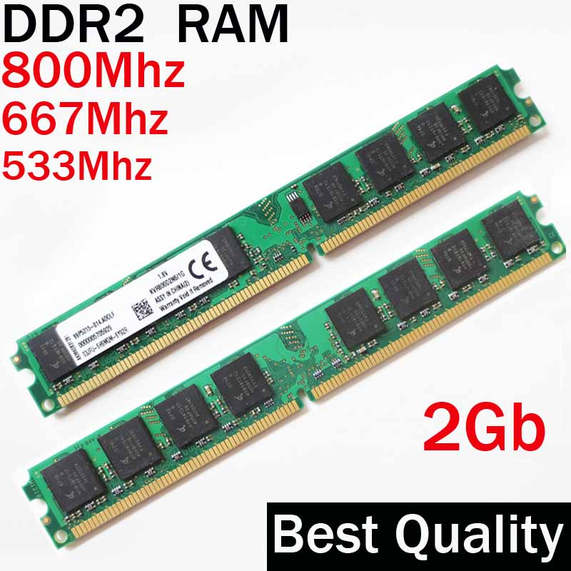 Desktop DDR2 RAM 800 2Gb 667 533 4gb for AMD or for all DDR2 RAM 800Mhz 667Mhz 533Mhz / ram ddr 2 memory RAM PC2 - 5300 6400 gtfs hot 2 x aluminum heatsink shim spreader for ddr ram memory