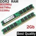 Para todos Escritorio RAM DDR2 800 2 Gb 800 667 533/2G DDR2 RAM 800 Mhz 667 Mhz 533 Mhz/ram ddr 2 memoria RAM PC2-5300 6400