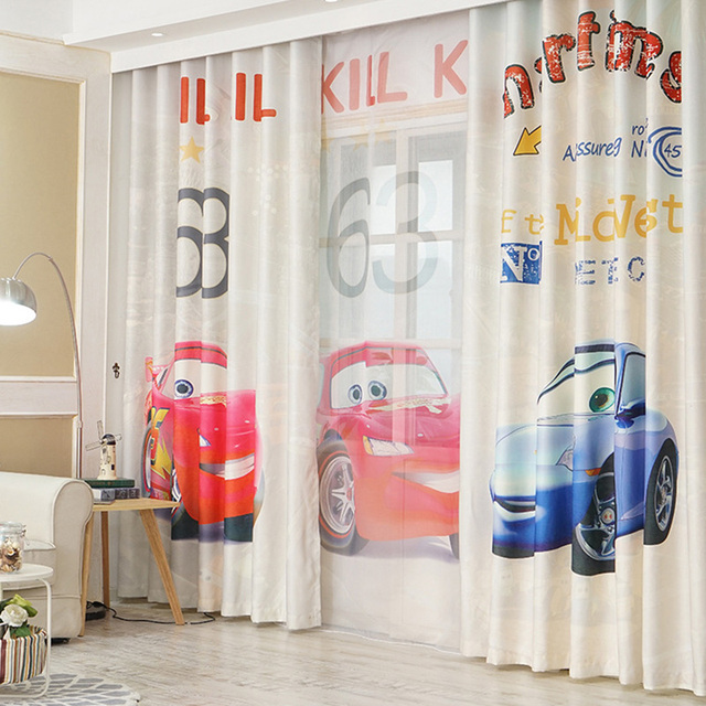 3D Print Catooon Cars Curtains for Children Room Kid Baby Bedroom ...