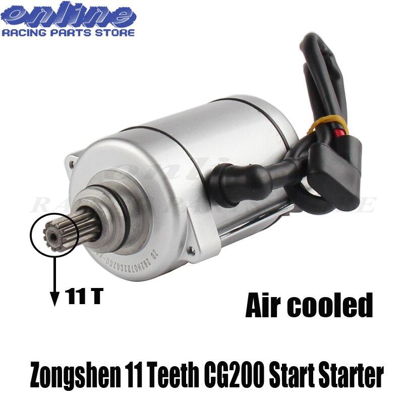 Brand new Zongshen 11 Teeth CG200 Start Starter Motor 125cc/200cc/250cc Air Cooled Quad ATV Bike