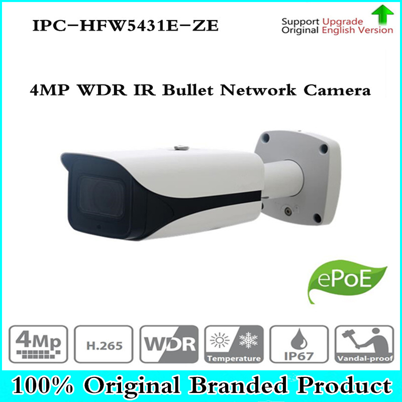 Original DH IPC-HFW5431E-ZE CCTV IPC 4MP POE HD 2.7mm ~13.5mm motorized lens WDR Network IR Bullet Camera IPC-HFW5421E-Z big capacity high quality canvas shark double layers pen pencil holder makeup case bag for school student with combination coded lock