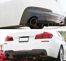 33 x6 Ikon Style Universal Rear Bumper Lip Diffuser 7 Fin Gloss Black ABS