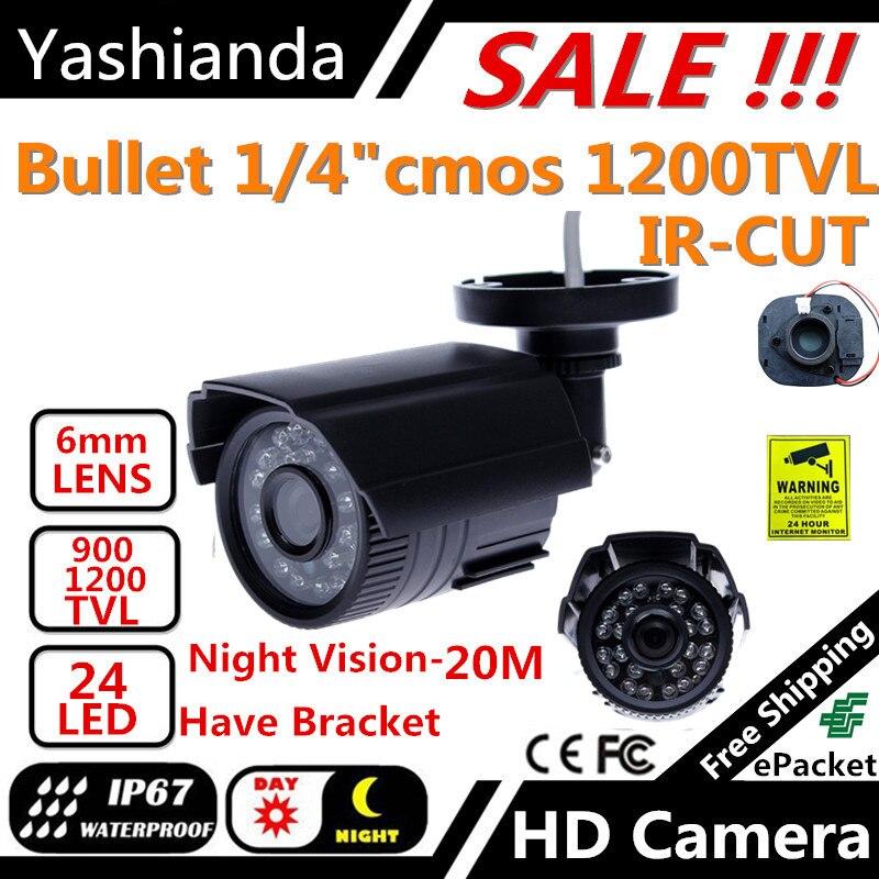bilder für Cctv-kamera 900TVL/1200TVL Ir-sperrfilter 24 Stunde Tag/Nachtsicht Video Im Freien Wasserdichte IR Gewehrkugel Überwachung kamera