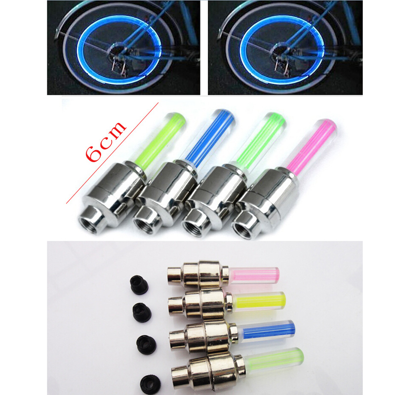LED Bike Light New Bicycle Lights Install at Bicycle Wheel Tire Valve's Bike Accessories Cycling Led Bycicle Light