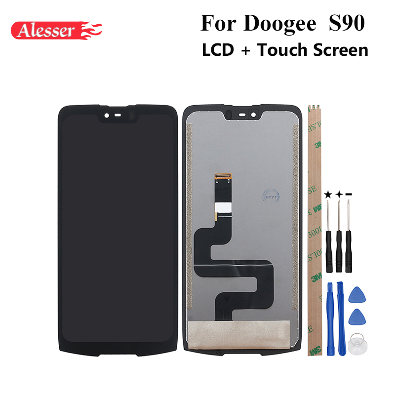 Alesser For Doogee S90 LCD Display and Touch Screen 6.18 Assembly Repair Parts With Tools And Adhesive For Doogee S90 PhoneAlesser For Doogee S90 LCD Display and Touch Screen 6.18 Assembly Repair Parts With Tools And Adhesive For Doogee S90 Phone